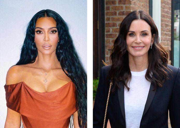 Kim Kardashian en Courteney Cox.