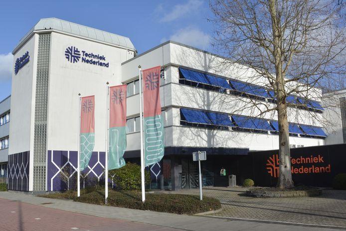 Het gebouw van Techniek Nederland aan het Bredewater in Zoetermeer.