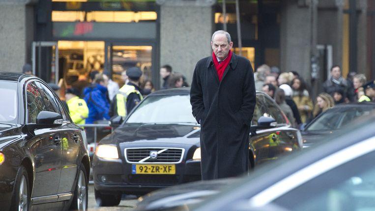 Job Cohen loopt richting het Paleis op de Dam voor de nieuwjaarsreceptie van koningin Beatrix. Archieffoto. Beeld ANP