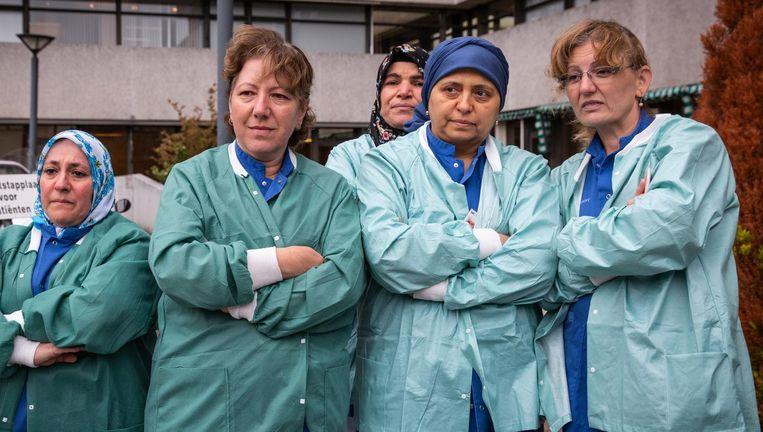 Medewerkers van MC Slotervaart horen donderdag dat het ziekenhuis definitief failliet is verklaard. Beeld Dingena Mol