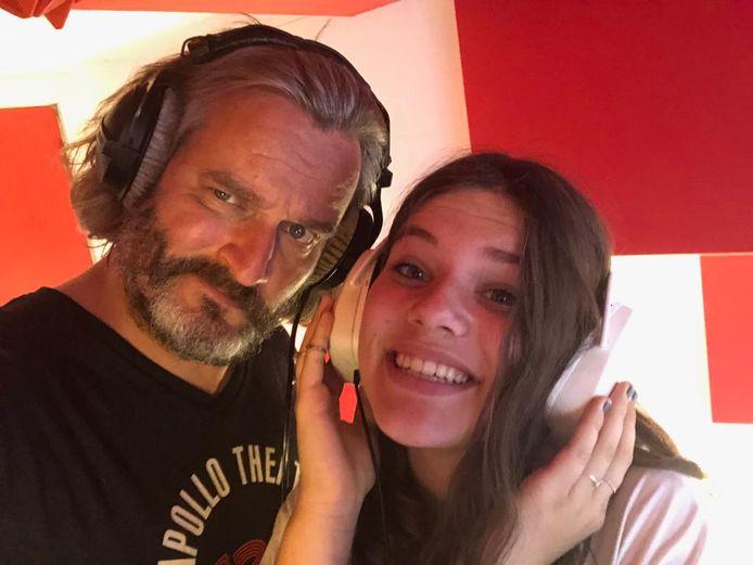 Kurt Burgelman en dochter Noor.