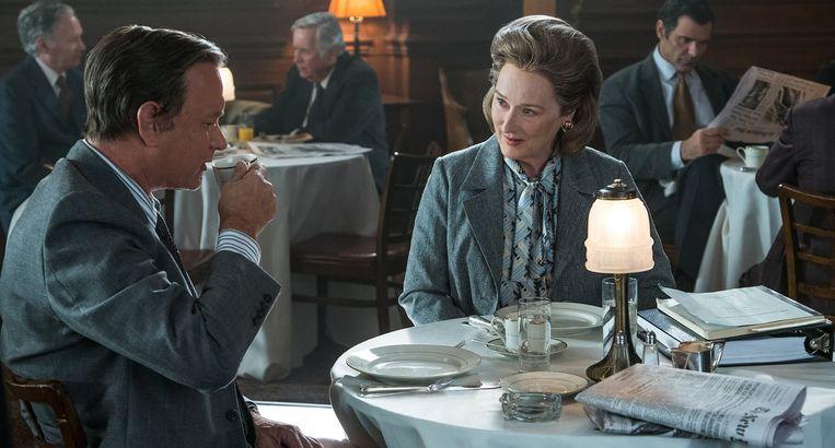 Tom Hanks en Meryl Streep in The Post van Steven Spielberg. Beeld