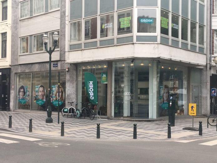 Pop-up van Groen op de Dansaertstraat