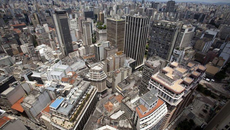 Het centrum van São Paulo, de grootste stad van Brazilië Beeld anp