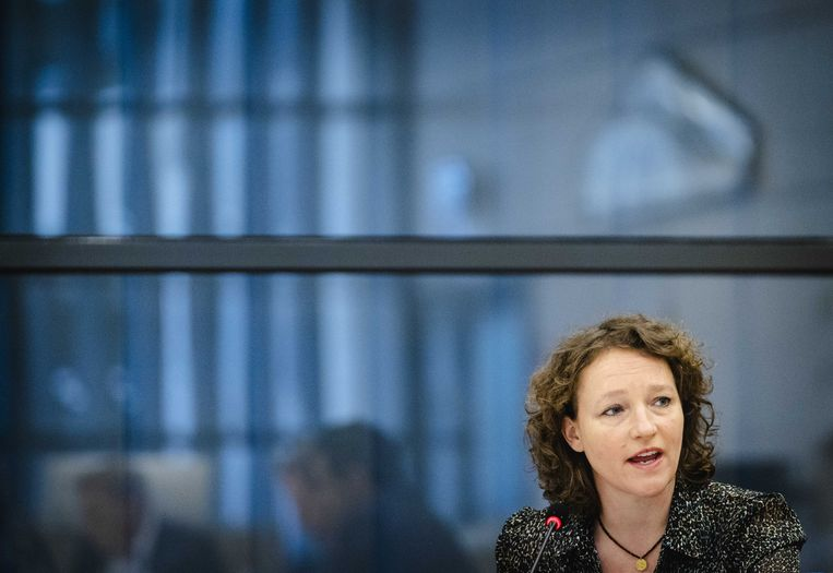 DEN HAAG - Renske Leijten (SP) in de Tweede Kamer tijdens een algemeen overleg over de hersteloperatie kinderopvangtoeslagen.   Beeld ANP