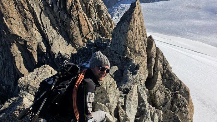 Derk Boswijk in het Mont Blancgebied