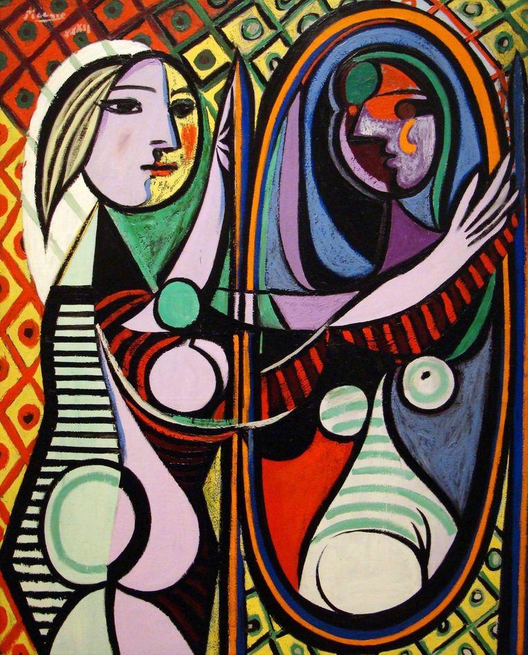 Pablo Picasso: Meisje voor de spiegel Beeld Pablo Picasso - Meisje voor de Spiegel / Pictoright