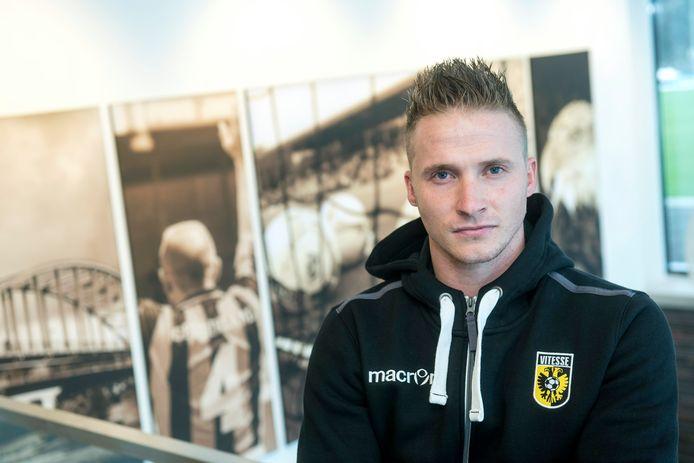 Alexander Büttner in 2017, toen hij begon aan zijn tweede periode bij Vitesse.