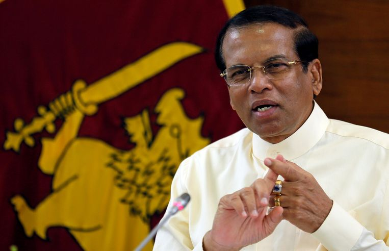 De Srilankaanse president Pallewatte Gamaralalage Maithripala Yapa Sirisena. Beeld REUTERS