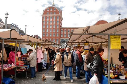 De weekmarkt in Dordrecht.