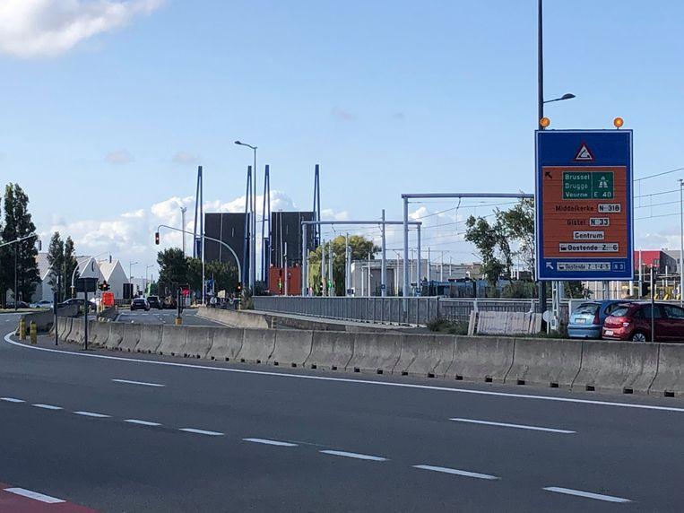 Omleiding bruggen in Oostende.