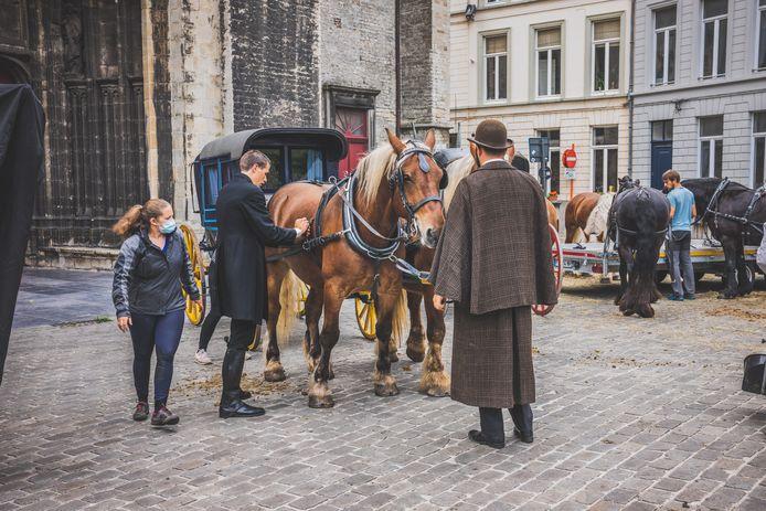 In het hart van Gent worden op donderdag en vrijdag scènes voor de kinderserie Theodosia opgenomen.
