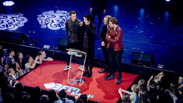 Kensington ontvangt de 3FM Award voor beste artiest rock. Beeld anp