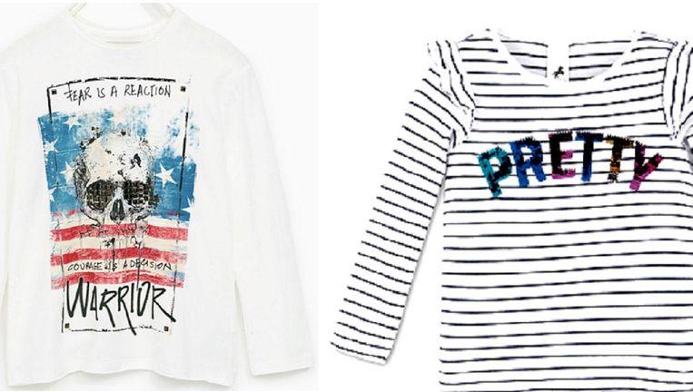 Twee t-shirts van de Hema Beeld