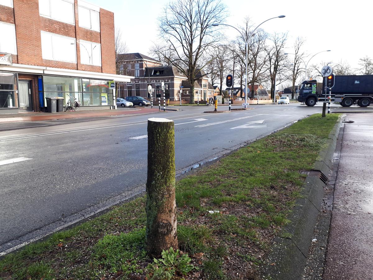 Kaalslag in de Troelstrastraat in Hengelo.