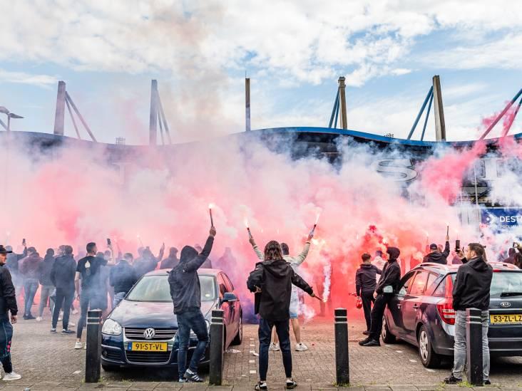 Vuurwerk, gezang en toespraak Jordens Peters: supporters zwaaien Willem II uit voor kelderkraker
