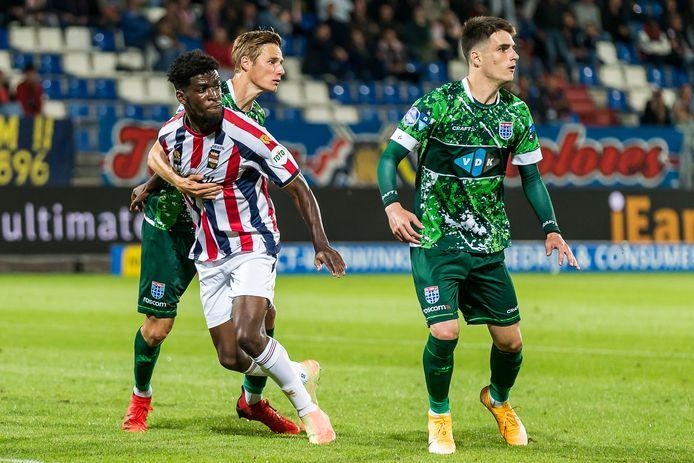 Otschi Wriedt tijdens de thuiswedstrijd tegen PEC Zwolle.