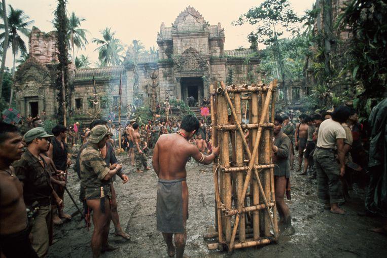 Opnamen voor de film Apocalypse Now van Francis Ford Coppola.  Beeld Getty
