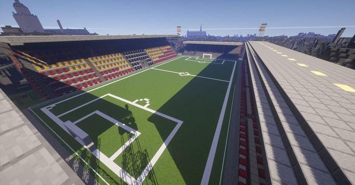 Het voetbalstadion van Go Ahead Eagles, De Adelaarshorst, in Happy Life.