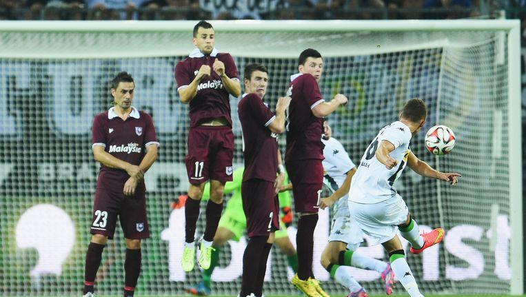 Donderdag was Thorgan nog wel succesvol in de laatste voorronde van de Europa League. Tegen FK Sarajevo scoorde hij in het Borussia-Park met een knappe rechtstreekse vrije trap. Beeld GETTY