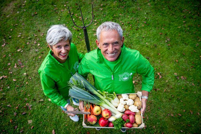 Gerrie en Anton Nuijten van Initiatiefgroep 'Burgerboerderij Brabantse Wal'.