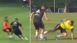 VIDEO. Knipper met de ogen en je ziet 'm niet: Hazard maakt indruk op training bij Real