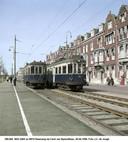 Lokale dienst naar Voorburg stopt in 1950 op Raamweg bij de Carel van Bylandtlaan.