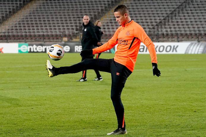 Ibrahim Afellay tijdens de training.