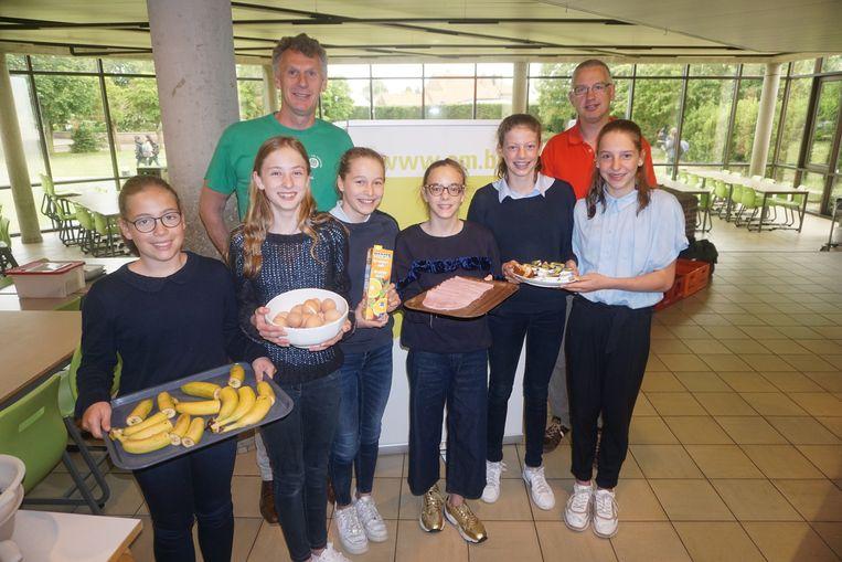 De leerlingen van het Sint-Andreasinstituut genoten van een gezond ontbijt