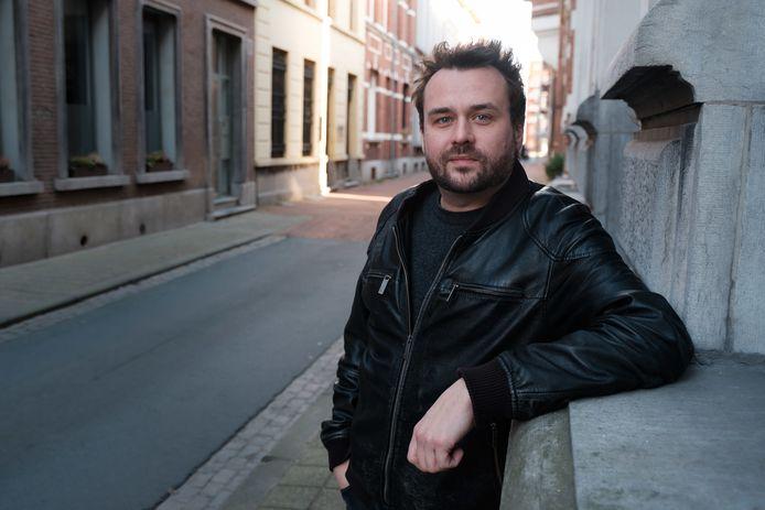 Gregory Frateur, frontman van rockband Dez Mona, in Boom.