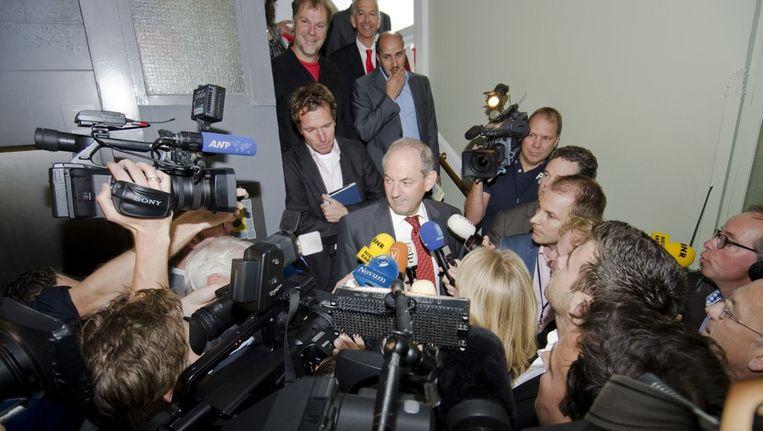 Job Cohen staat de pers te woord. Beeld anp