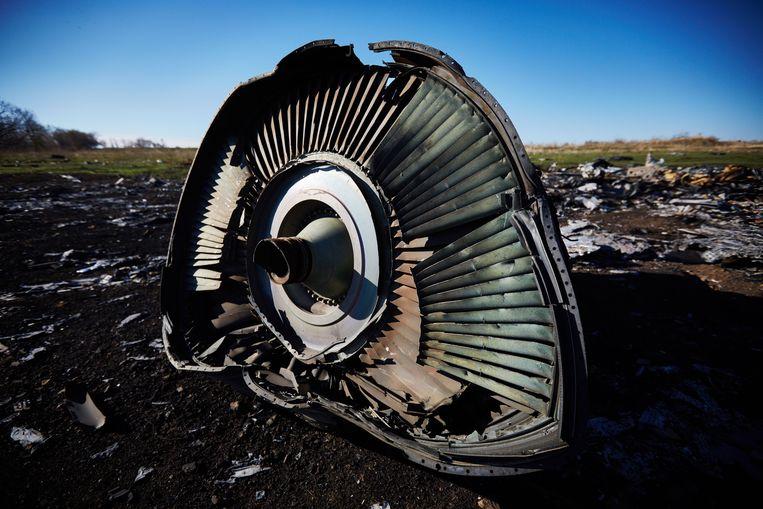Partes del vuelo accidentado MH17 de Malaysia Airlines en el este de Ucrania, 100 días después del accidente.