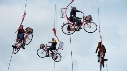 Al eens gevlogen op een fiets? Eerste editie Velofoor is meteen schot in de roos