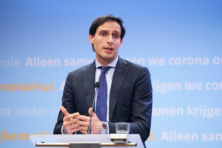 Minister Wopke Hoekstra  (Financiën). Beeld ANP