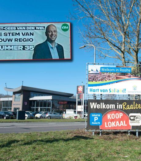 Ophef om spandoeken in Raalte: CDA-kandidaat moet vijf grote doeken verwijderen van de gemeente
