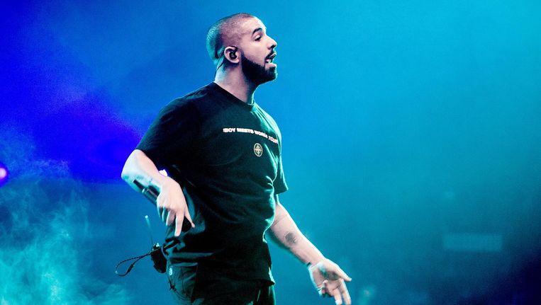 Drake tijdens een eerder concert in de Ziggo Dome. Beeld anp