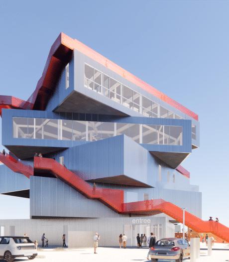 Impressie nieuw infocentrum Maasvlakte: roterende verdiepingen én een dakterras met zicht op de haven