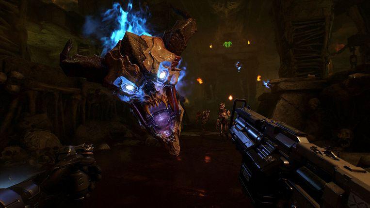 De tegenstanders hebben nog steeds dezelfde vorm als degene die u tegen het lijf liep in de originele 'Doom'. Beeld Bethesda