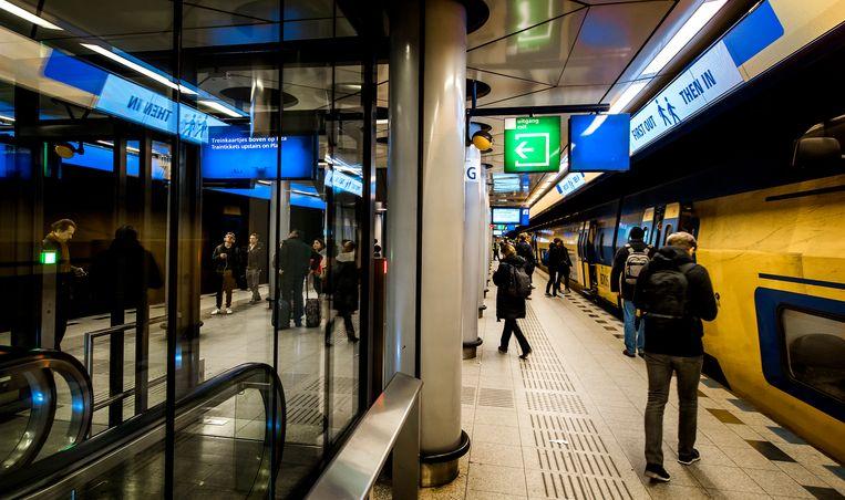 Het treinstation bij Schiphol. Beeld ANP