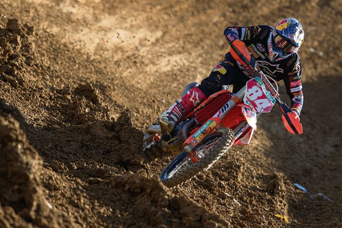 Wereldtopper Jeffrey Herlings in actie.