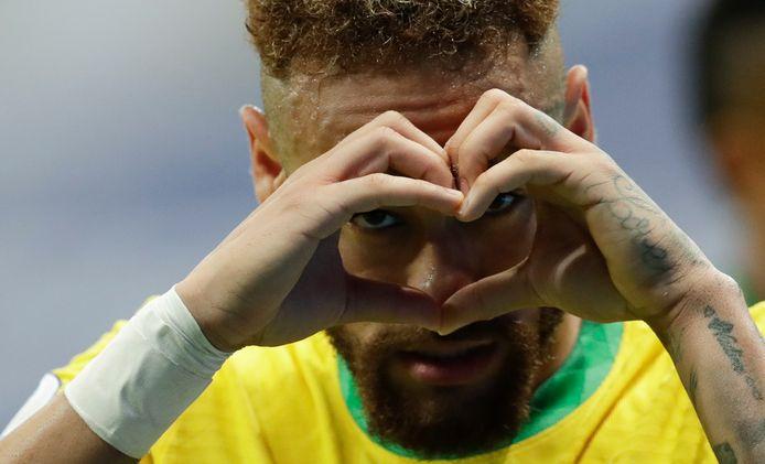 Neymar was trefzeker