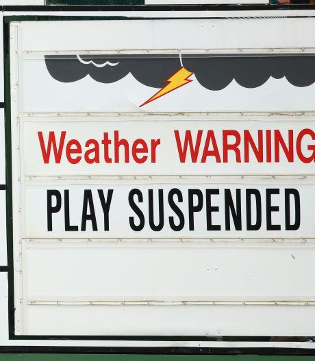 Masters onderbroken wegens 'gevaarlijk weer'