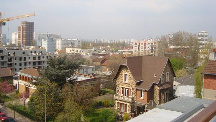 À l'arrière-plan, la Résidence du parc (à gauche) et les 4000 nord (à droite).