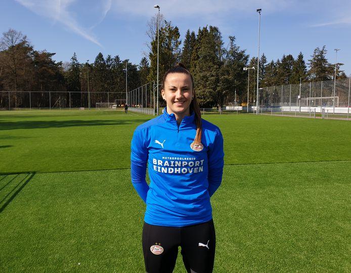 Keepster Femke Bastiaen van PSV.