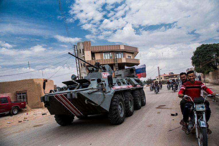 Russische militaire politie in Syrië. Beeld AP