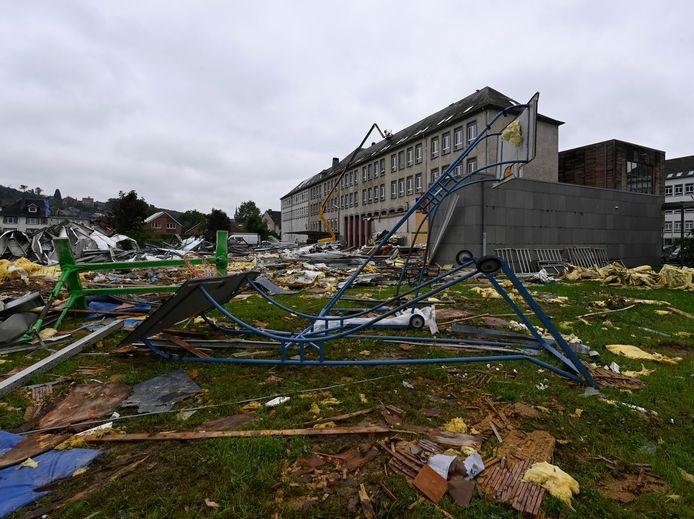 Een storm heeft afgelopen weekend Beauraing getroffen