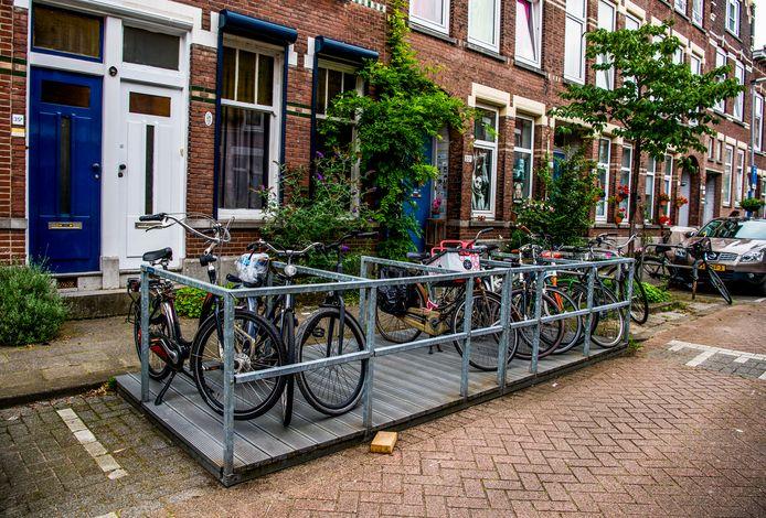 Fietsvlonders worden bij succes omgezet in permanente fietsparkeerplaatsen.