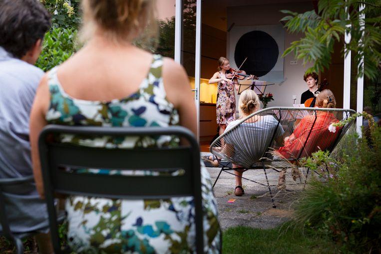 Samenuitthuis.nl is een initiatief van en voor musici in coronatijd. Beeld Pauline Marie Niks