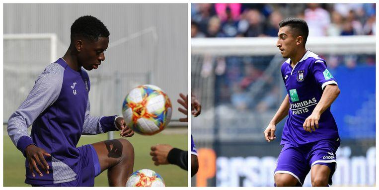 Lokonga (links) en El Hadj staan dicht bij een contractverlenging bij Anderlecht.