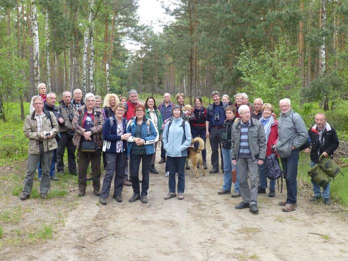 De expeditiegroep van Tubantia in het gebied van de Zschornoer Wolfsrudel.